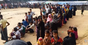 Rohingya refugees in refugee camp in Bangladesh, 2017. Source: Voice of America