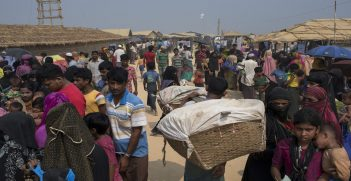 Rohingya refugees in a refugee camp in Bangladesh, Source: EU Civil Protection and Humanitarian Aid, Flickr, https://bit.ly/2ZgVlfO