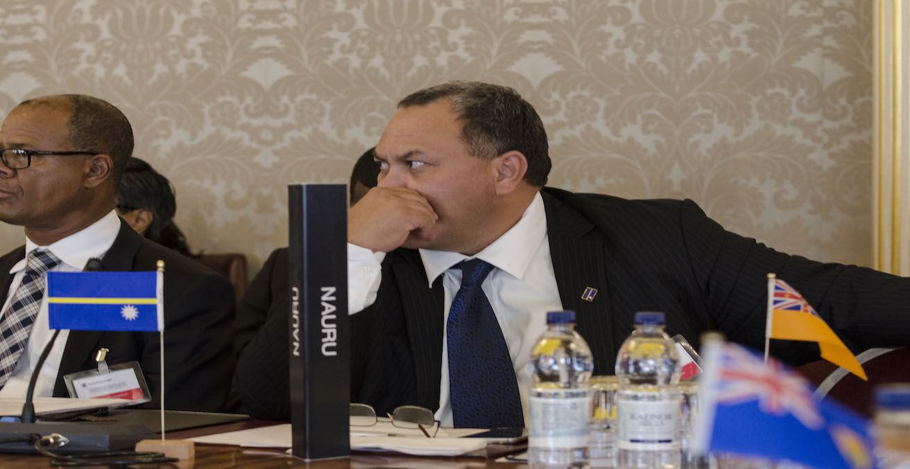 Lionel Aingimea at the  LMSC in London in 2013, Source: Commonwealth Secretariat, https://bit.ly/2m5C2Z0