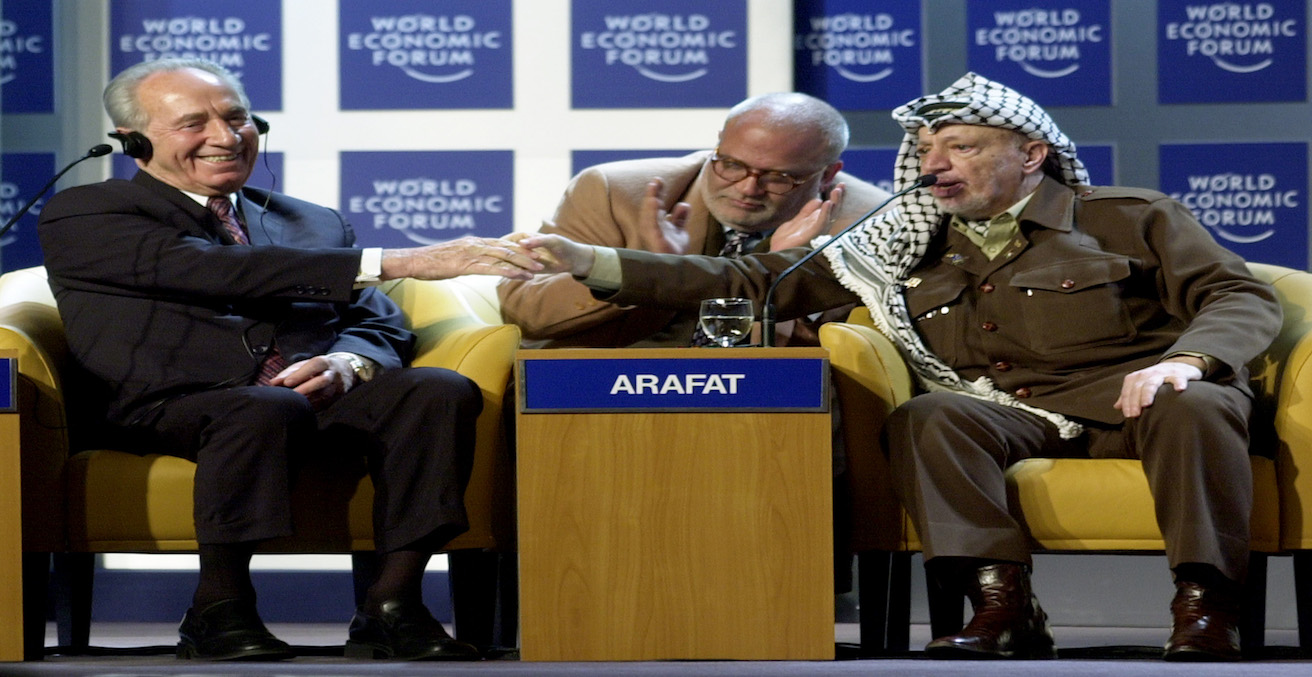 Image of Palestinian political leader, Yassar Arafat at the  World Economic Forum Annual Meeting, Source: World Economic Forum, Flickr, https://bit.ly/2kilSLi