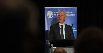 Allan Gyngell delivers his keynote speech at AIIA19.