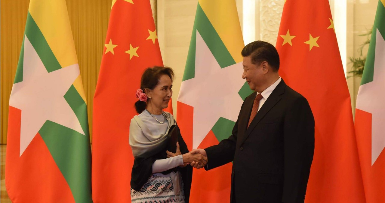 President Xi Jinping of China with Myanmar's leader Aung San Suu Kyi. Photo by: Myanmar State Counsellor's Office. Source: https://bit.ly/2RWONTs