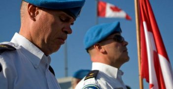 Canadian UN Police. Photo by Logan Abassi, United Nations Photo. Source: https://bit.ly/2RKvkp8