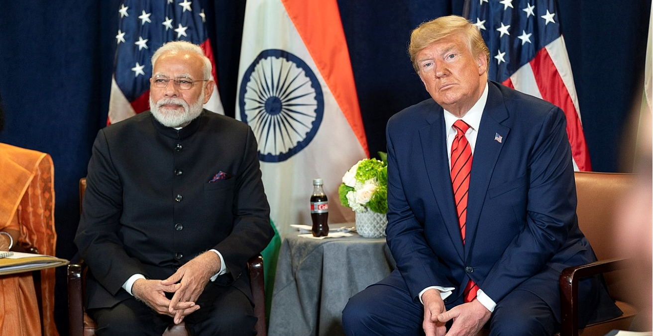 President Donald J. Trump and India's Prime Minister Narendra Modi participate in a bilateral meeting Tuesday, September 24, 2019, at the United Nations Headquarters in New York City. Source: Shealah Craighead https://bit.ly/2T8Tfxt