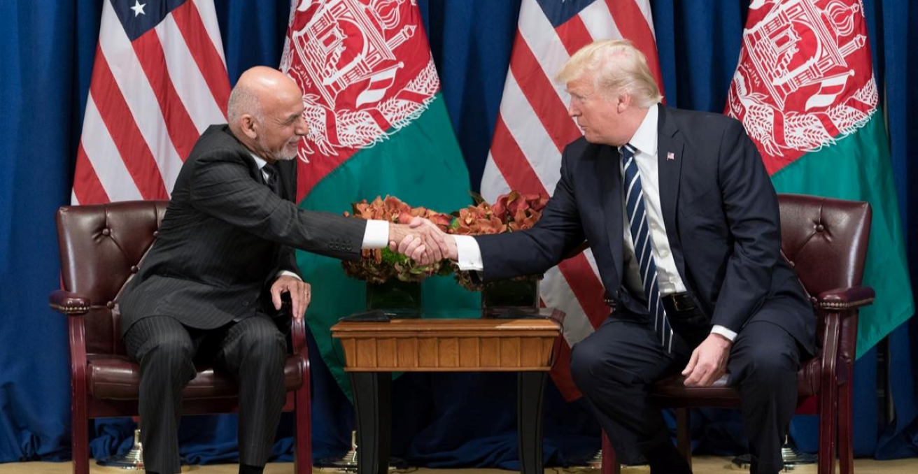 President Donald J. Trump and President Ashraf Ghani of Afghanistan at the United Nations General Assembly (Official White House Photo by Shealah Craighead) https://bit.ly/2Whot8H