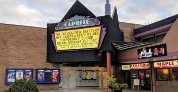 Cinema in South Surrey, British Columbia, Canada closed due to  the COVID-19 pandemic. Source: Northwest https://bit.ly/2Vx3jm9