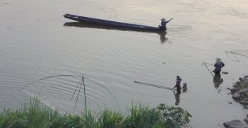 Fishing activities on the Mekong River. Source: Andrea Haefner (supplied by author)