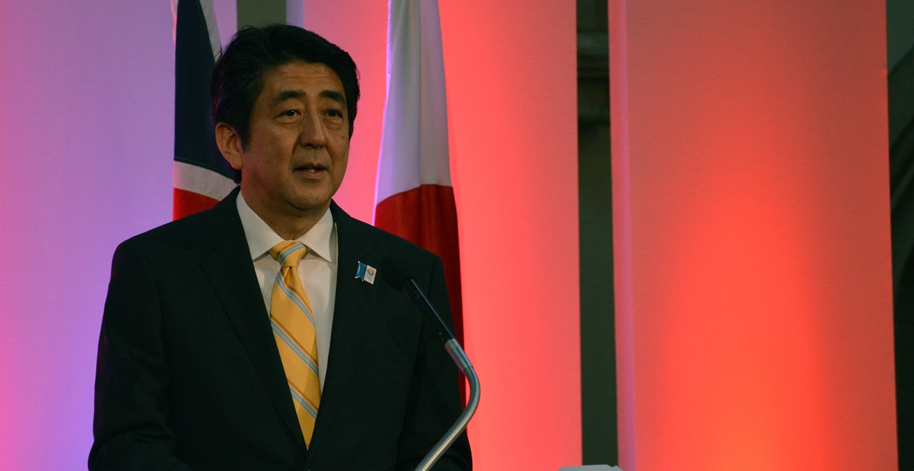 Japanese Prime Minister Abe Shinzo at Japan's Economic Revival at Guildhall, London 20 June 2013. Source: Chatham House https://bit.ly/2zVgTrk