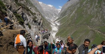 The glacial heights of Himalayas in Kashmir valley. Source: Amarnath Yatra https://bit.ly/3dWcgeY