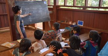 A EU Civil Protection and Humanitarian Aid funded school developed to bring education services to Myanmar's conflict-affected areas where access to schools is either insufficient, or nonexistent. Source: Pierre Prakash https://bit.ly/314JzIa