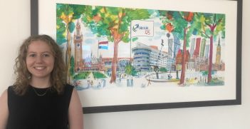 2020 Nygh intern Nicole Sims at the Hague Conference