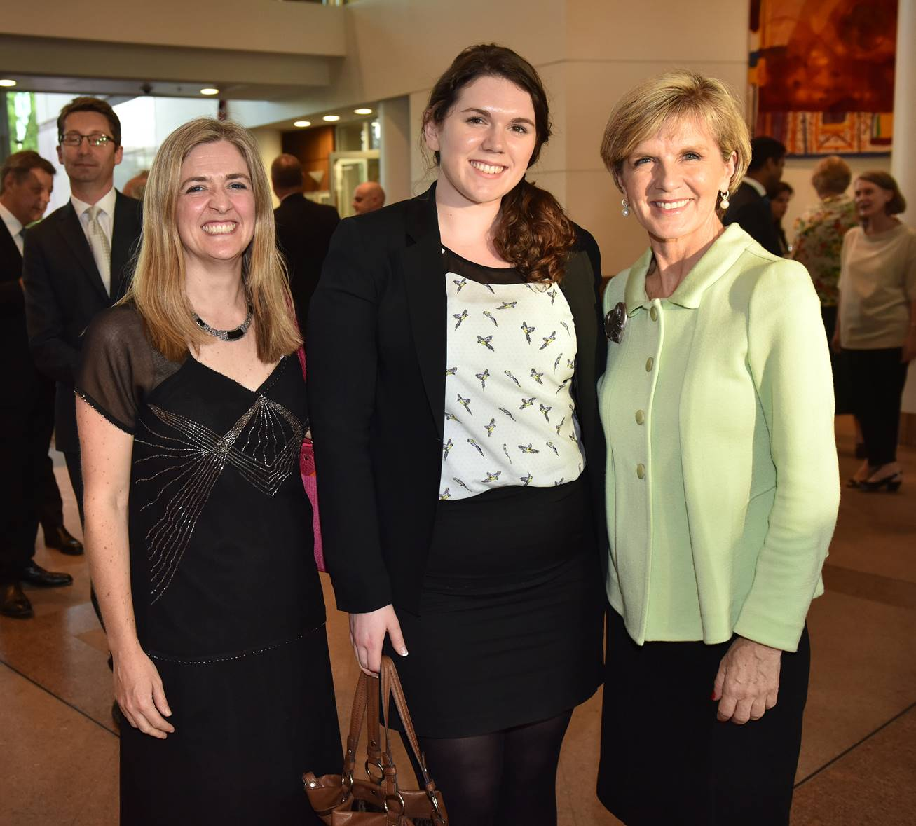 Intern attending a function at Parliament House, Canberra 2011