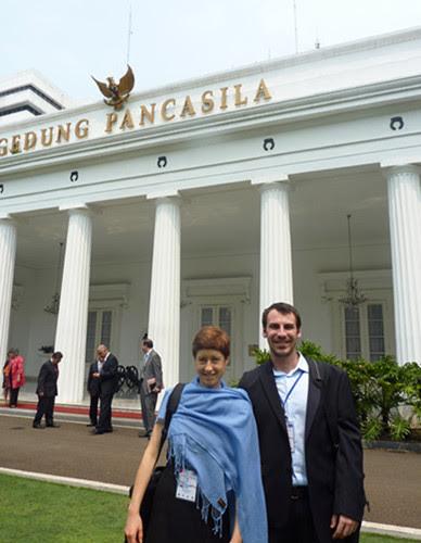 Interns attending the Indonesia Australia Dialogue, Jakarta 2011