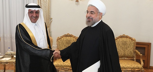 Source: (CC) www.president.ir. New Saudi Ambassaddor to Iran meets Iran's President Hassan Rouhani (R) and new Saudi Ambassador to Iran meets Iranian President