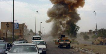 A car bomb explodes in Iraq