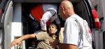 Source: ICRC (Shujaia, Gaza. ICRC staff transfer a casualty to an ambulance for evacuation)