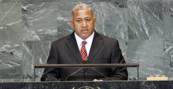 Josaia V. Bainimarama, Prime Minister of the Republic of the Fiji Islands, addresses the general debate of the sixty-fourth session of the General Assembly, 2009. Image credit: UN photos.