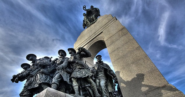 The National War Memorial in Ottawa. Image credit: Flickr (Paul Gorbould)