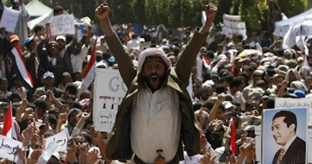 2011 protests in Sana'a, Yemen. Image credit: Flickr (Sam Qaid)