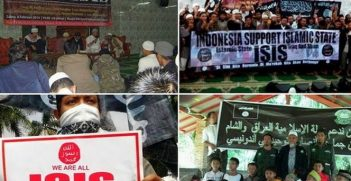 Indonesian Islamic Activists In Jakarta Declare Support For ISIS. Image credit: GooglePlus (Abu Al Bawi)