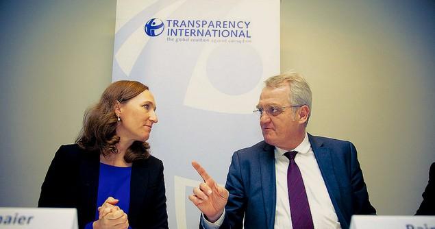 Jana Mittermaier (Transparency International EU) & Rainer Wieland (European Parliament Vice President) at TI EU event. Image credit: Flickr (Transparency International)