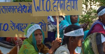 Women at farmers rally against WTO, Bhopal, M.P., India, Nov 2005. Image credit: Wikimedia Commons