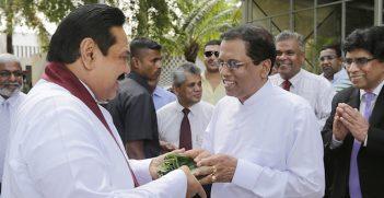 Former President Mahinda Rajapaksa and new president Maithripala Sirisena. Image Credit: Flickr (Mahinda Rajapaksa) Creative Commons.
