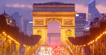Arc de Triomphe and Champs-Elysées avenue. Image Credit: Flickr (Loïc Lagarde) Creative Commons.