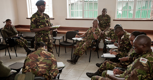 Kenyan soldiers in training. Image credit: Wikimedia Commons (US Army Africa) Creative Commons.