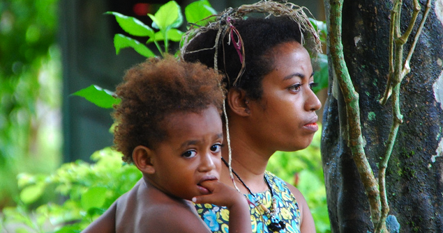 Mother and child in PNG. Image credit: Flickr (Austronesian Expeditions) Creative Commons.