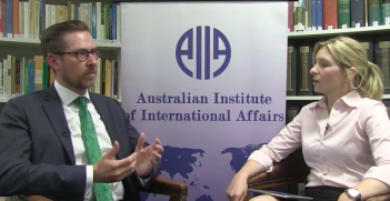 Rory Medcalf Interview. Photo Credit: AIIA (National Office) Creative Commons.
