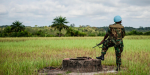 UN Peacekeeper in Liberia standing guard. Photo Credit: Flickr (United Nations Photo) Creative Commons.