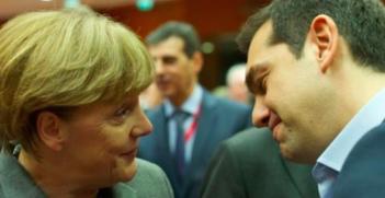 Alexis Tsipiras and Angela Merkel square off the Greek debt crisis. Photo Credit: Flickr (European Council President) Creative Commons.