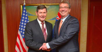 Andrews and Carter at the Shangri-La Dialogue in Singapore. Photo Credit: Flickr (Ash Carter) Creative Commons