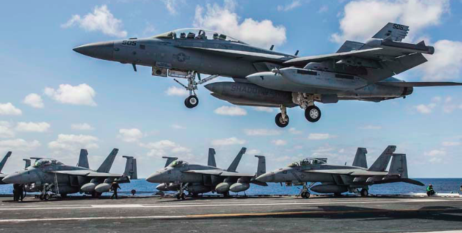 A US fighter jet takes off from an Aircraft Carrier. Photo Credit: Flickr (US Pacific Command) Creative Commons.