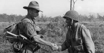 Australian Digger and American Paratrooper meet in 1943. The alliance between Australian and America has long been defined by the friendship from the Second World War. Photo Credit: Flickr (State Library Victoria Collections) Creative Commons.
