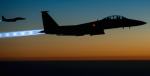 Two U.S. Air Force F-15E Strike Eagle aircraft fly over northern Iraq Sept. 23, 2014, after conducting airstrikes in Syria. Turkish fighter jets have begun to join the fight against ISIS. Photo Credit: Flickr (U.S. Department of Defence) Creative Commons.