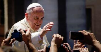 Pope Francis in St Peter's square, Vatican. Photo Credit: Wikipedia (Alfredo Borba) Creative Commons
