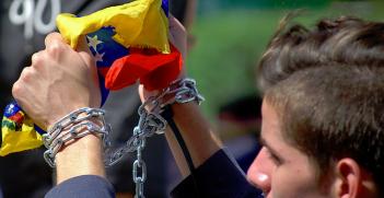 Protest in Caracas, Venezuela. Photo Credit: Flickr (Carlos Díaz) Creative Commons