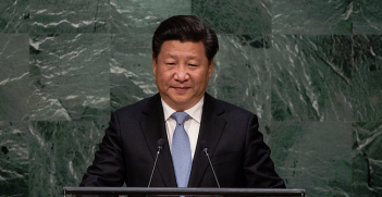 Xi Jinping, President of the People's Republic of China, addresses the general debate of the General Assembly's seventieth session, on 28 September 2015 at the United Nations, New York. Photo Credit: Flickr (UN Photo/Cia Pak) Creative Commons