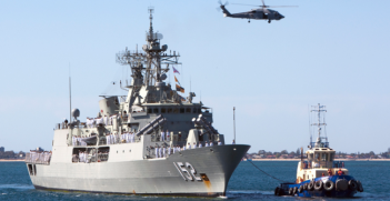 HMAS Warramunga returns from deployment. Photo Source: Flickr (Royal Australian Navy) Creative Commons
