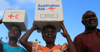 Red Cross and the Australian Government will work together to strengthen local humanitarian actors in the Pacific, so they can respond effectively to disasters in their own countries.  Photo Source: IFRC
