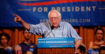 US Senator of Vermont Bernie Sanders in Littleton NH on August 24th, 2015. Photo Source: Michael Vadon (Flickr). Creative Commons.