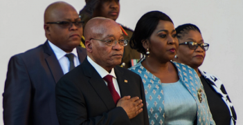 President Jacob Zuma at the State of the Nation address on the 11th of February, 2016. Photo source: Government ZA (Flickr). Creative Commons.