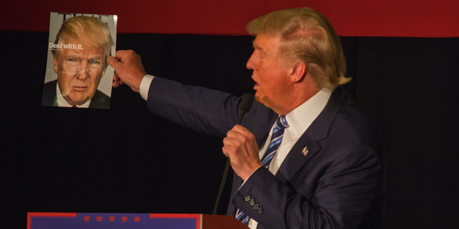 Donald Trump at a campaign stop in Iowa. Photo source: Matt Johnson (Flickr). Creative Commons.
