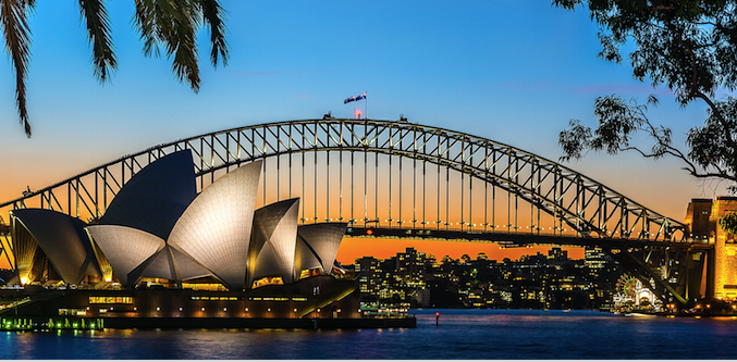 View of Sydney Harbour. Photo source: Christophe Robert Hervouët (Flickr). Creative Commons.
