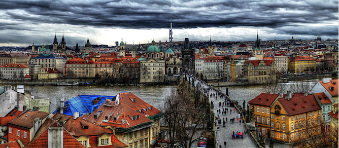 Prague as seen from Lesser Town Bridge Tower. Source: Traveltipy (Flickr). Creative Commons.
