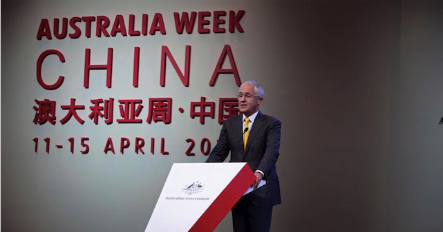 Malcolm Turnbull visits Shanghai on 14 April. Photo source: Malcolm Turnbull (Facebook).