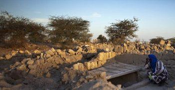 Destroyed mausoleum in Timbuktu, Mali. Photo credit: Mission de l'ONU au Mali - UN Mission in Mali (Flickr) Creative Commons