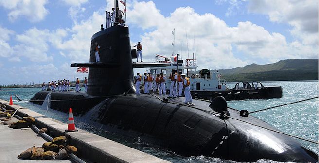 Japanese-designed Soryu submarine. Photo source: US Navy (Wikimedia). Public Domain.